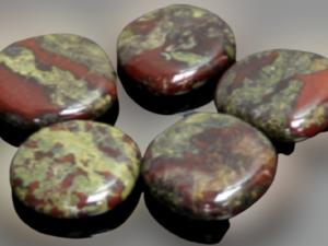 Jaspe Sanguíneo / Pedra Dragão, Rodado Plano