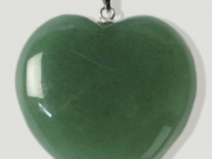 Pingente Quartz Verde Coração
