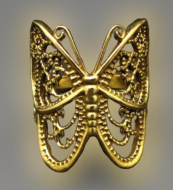Anel Bronze Mariposa