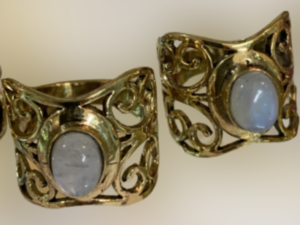 Pedra Lua, anel em bronze